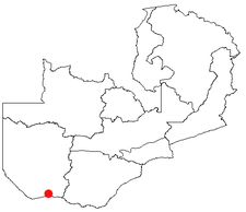 Location of Sesheke in Zambia