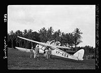 Zanzibar. Plane alighting. Grounds surrounded by dense palm groves LOC matpc.17660.jpg