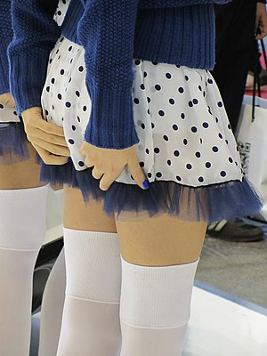 Zettai ryōiki - An example of zettai ryōiki on a model at the 2012 Bologna Motor Show.