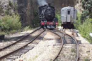 Zig Zag Railway - BB18¼ 1072 City of Lithgow in the head shunt at Top Points station