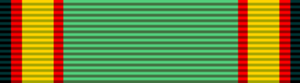 Orders, decorations, and medals of Zimbabwe - Image: Zimbabwe Order of Merit (military) ribbon bar