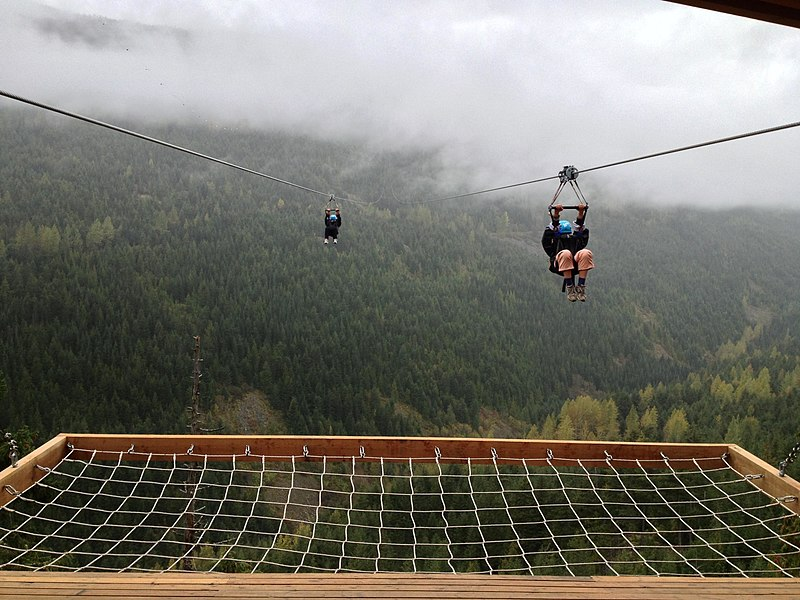 File:Zip line arival SuperFly Whistler, BC, Canada.JPG