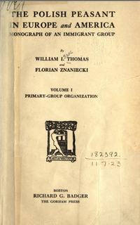 <i>The Polish Peasant in Europe and America</i> book by William Isaac Thomas