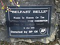 """Belfast Belle"" plaque, Omagh - geograph.org.uk - 1384445.jpg"