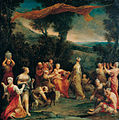 'Jupiter Among the Corybantes (Korybantes)', oil on copper painting by Giuseppe Maria Crespi.jpg