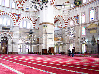 Şehzade Mosque - Interior of the mosque