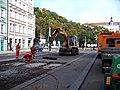 Štefánikova, rekonstrukce TT, zastávka Švandovo divadlo (01).jpg