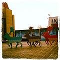 Олени во дворе Московского Института Стали и Сплавов. - panoramio.jpg