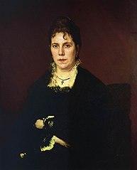 Portrait of Sofia Nikolaevna Kramskoy, the Artist's Wife