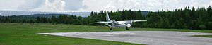 Ust-Kut Airport - Image: Посадка ан 24 УК