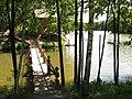 Рыболовная база под с.Чернотычи. Мостик к бане. - panoramio.jpg