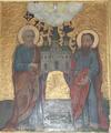 Слуцкий Свято-Троицкий монастырь на иконе XVII в.PNG