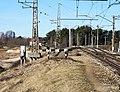 Царникава (Латвия) Железнодорожные пути при въезде на мост через реку Гауя - panoramio.jpg