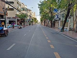 Dinso Road road in Bangkok, Thailand
