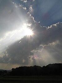 夏のレンブラント光線