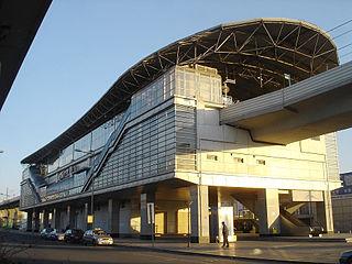 TEDA station metro station in Tianjin, China
