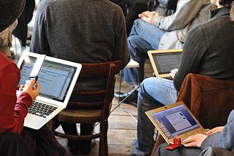Human multitasking - Laptop and mobile phone