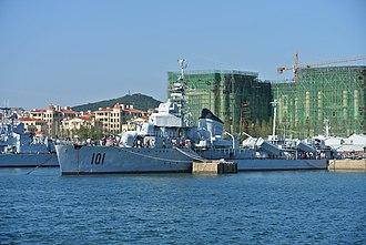 Chinese destroyer Anshan (101) - Image: 青岛中国海军博物馆鞍山号驱逐舰