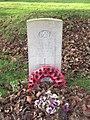 -2018-12-04 CWGC gravestone, Unknown Merchant seaman, Parish church of Saint John the Baptist's head, Trimingham.JPG
