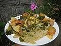 0099Nilagang repolyo, petsay Tagalog, kamote, patatas, kamatis at Pritong Dalag (Bulig) sa tanglad 43.jpg