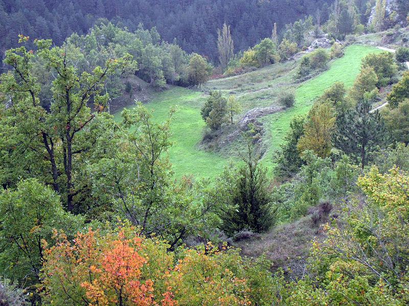 File:052 La vall del Junyent des del castell de Lillet.jpg