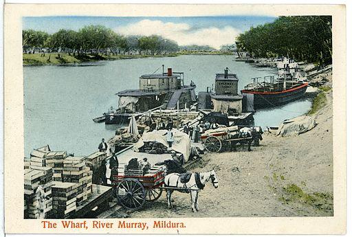 05978-Mildura-1905-The Wharf River Murray-Brück & Sohn Kunstverlag