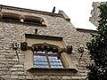 064 Castell de Santa Florentina (Canet de Mar), finestra de la façana nord.JPG