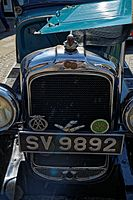 08.05.2016 Pontiac at Horsham West Sussex England front grill.jpg