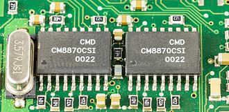 Dual-tone multi-frequency signaling - Two CMD CM8870CSI DTMF Receivers