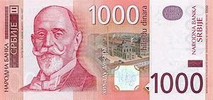 Economy of Serbia - 1000 Serbian dinar banknote