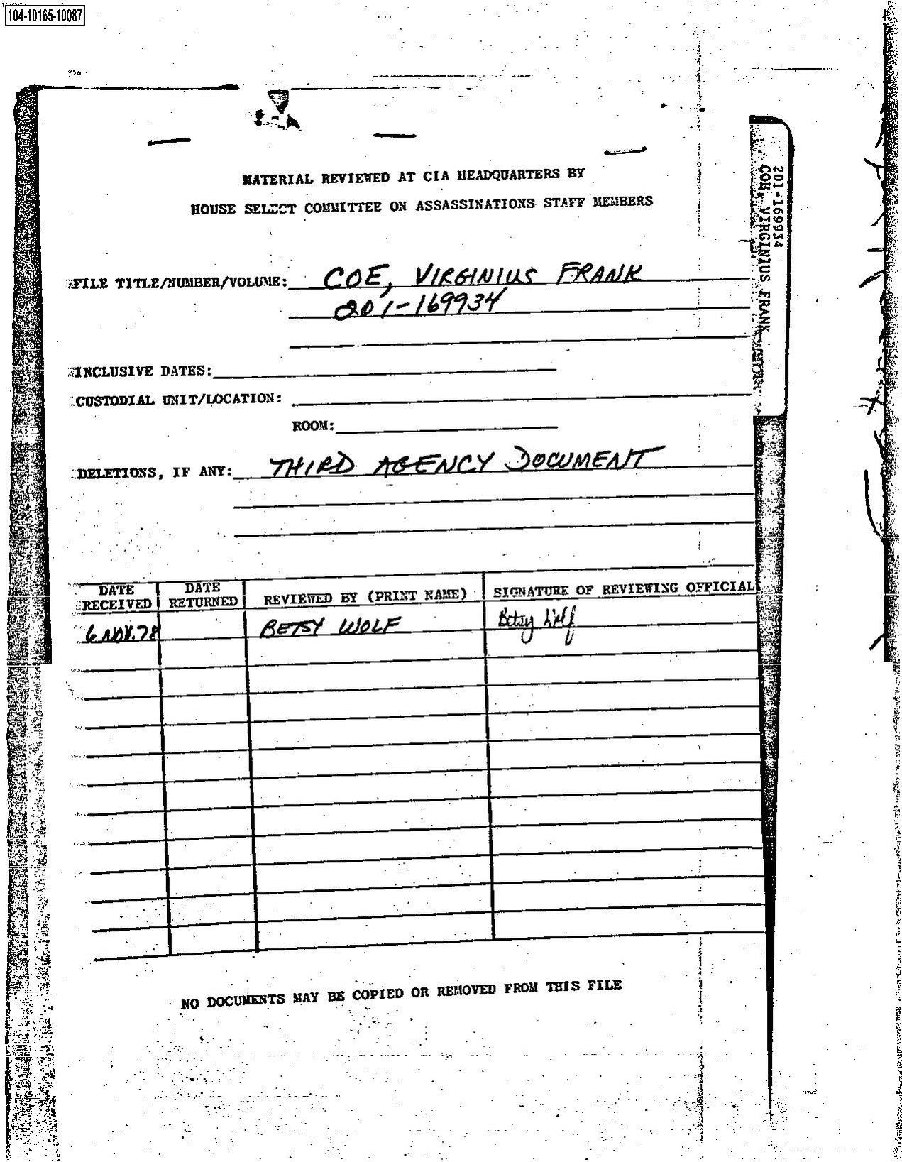 File:104-10165-10087 (JFK, November 3 release).pdf ...