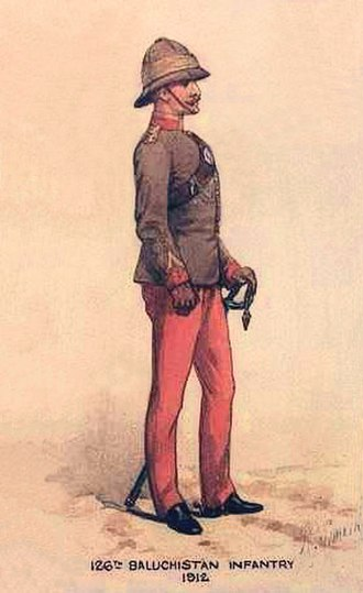 126th Baluchistan Infantry - Image: 126th Baluchistan Inf 1912