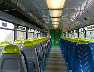 Arriva Trains Wales - The interior of an Arriva Trains Wales Class 142