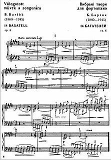 14 Bagatelles Musical composition by Béla Bartók