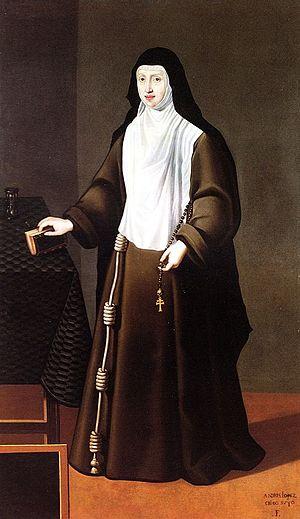 Archduchess Margaret of Austria (1567–1633) - Portrait of Archduchess Margaret of Austria as Poor Clare nun, ca. 1610.