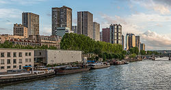 The Front de Seine highrise district near the Eiffel Tower.