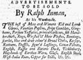 1760 Ralph Inman BostonEveningPost Sept22.png