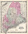 1862 Johnson Map of Maine - Geographicus - ME-johnson-1862.jpg