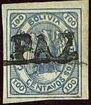 1867 100c Bolivia linear LA PAZ Mi4a.jpg