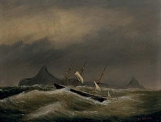 Clement Drew - Image: 1884 Ship Scudding Off Cape Horn by Clement Drew