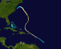 1889 Atlantic hurricane 4 track.png