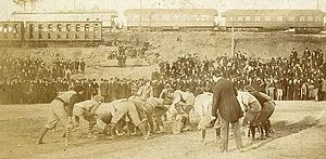 Deep South's Oldest Rivalry - 1895 Auburn-Georgia game at Piedmont Park.