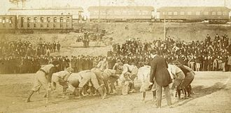 Deep South's Oldest Rivalry - 1895 Auburn-Georgia game at Piedmont Park.