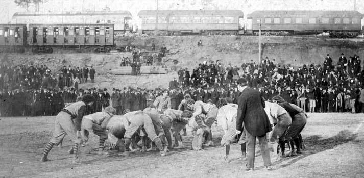 1895 Auburn - Georgia football game at Piedmont Park in Atlanta Georgia