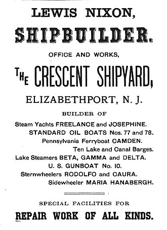 Crescent Shipyard - An 1899 advertisement for the Crescent Shipyard