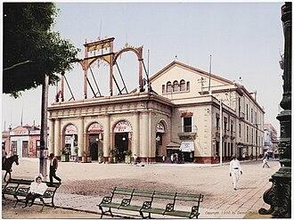 Gran Teatro de La Habana - Image: 1900 Teatro de Tacon in Havana Cuba by Detroit Photographic Company (0981)