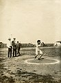 1904 Olympics- N. Georgantas of Greece, throwing the discus.jpg