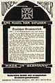 1917 circa Erster Weltkrieg Geschoss Granate Friedrich Krupp AG Mörser Dicke Bertha Lied Postkarte Fritz Thörner.jpg