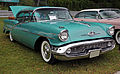 1957 Oldsmobile 98 Starfire Holiday 4-door sedan, Lime Rock.jpg