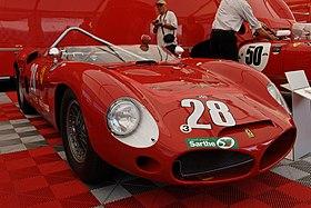 1961 Ferrari 246-196 SP sn0790 paddock at Le Mans 2010.jpg